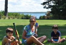 Alena Seredova felice in foto, vacanze coi figli