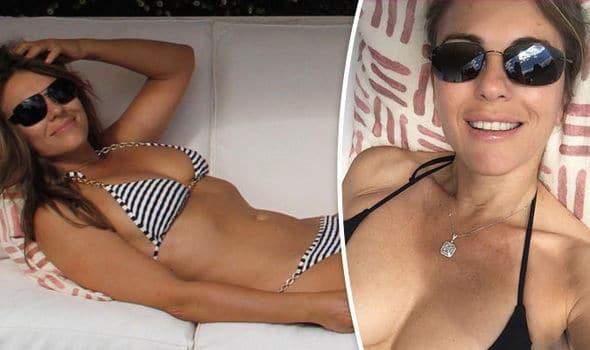 Liz Hurley in bikini: 51 anni e non sentirli